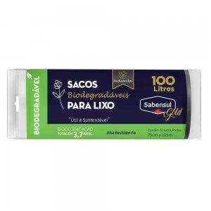 Sacos Biodegradáveis para Lixo Preto - 100L