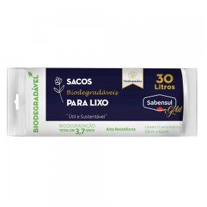 Sacos Biodegradáveis para Lixo - Branco - 30L