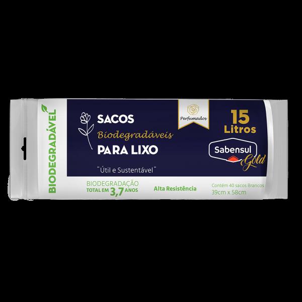 Sacos Biodegradáveis para Lixo - Branco - 15L