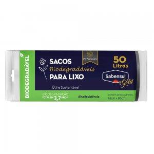 Sacos Biodegradáveis para Lixo Preto - 50L